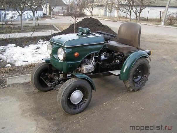 Своими руками мини трактор из мотоцикла