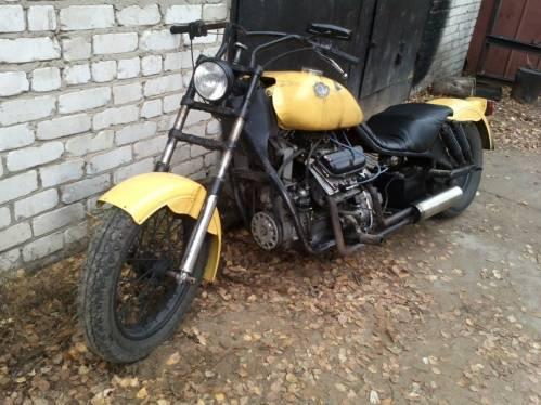 мотоцикл с запорожца двигателем #4