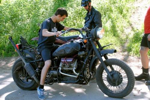 мотоцикл с запорожца двигателем #6