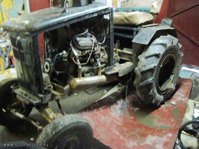 Как сделать трактор с заз