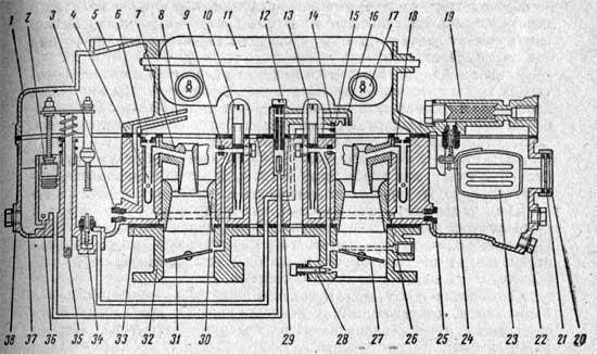 Схема карбюратора К-126Н: